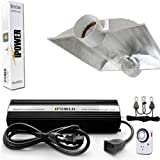 iPower 600 Watt HPS Digital Dimmable Grow Light System Kits Cool Tube Reflector Set XL Wing