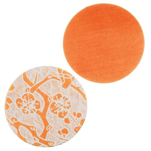 Circle Stamping Orange W/Cherry Blossom 25mm (2) (Lillypilly Aluminum Circle)