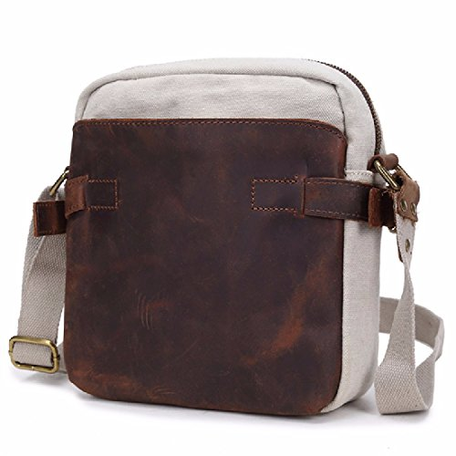 white parcel men's Canvas male chest Korean version bag Pack bags M slung cool shoulder white KHSKX M canvas casual flows EH8Rw8dq