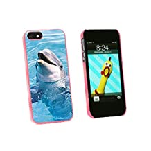 Graphics and More Dolphin Snap-On Hard Protective Case for iPhone 5/5s - Non-Retail Packaging - Pink