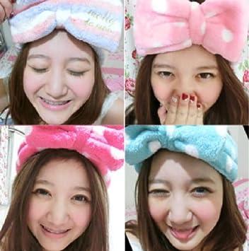 Amazon.com   BDS - Lovely Fresh Big Bow Headband Makeup Face Towel Turban  Headband Hair Holder (Combo (5 different Style))   Beauty 9c30c59f3e4