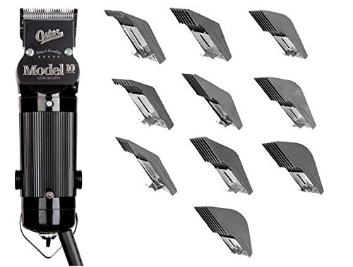 Oster Model 10 Classic Professional Barber Salon Pro Hair Grooming Clipper with 10 piece Comb Guide Set. by Oster