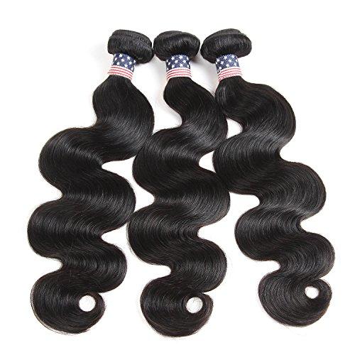 Vshow Hair 10 12 14 Inches 8A Brazilian Virgin Hair Body Wave 100% Unprocessed Brazilian Hair Bundles 3 Bundles Human Hair Weave (10 12 14)