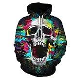 Halloween Skull Hooded Sweatshirt Sweater Pullover - Unisex Hoodie 3D Printed Hoodie Teens Jumpers Women Men (Multicolor #1,XL)