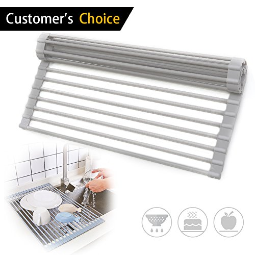 Roll Up Dish Drying Rack - Extra Large Foldable Drainer Rack
