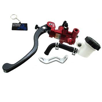 STONEDER - Cilindro hidráulico de Embrague de Freno Izquierdo Adelin, 16 x 18 mm, Color Rojo y Negro: Amazon.es: Coche y moto