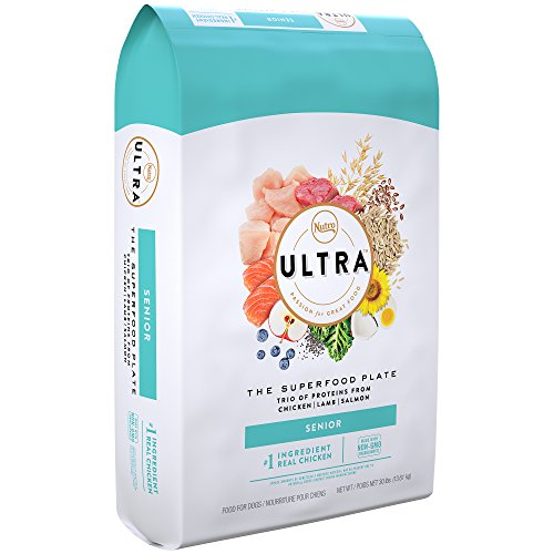 Nutro Ultra Senior Dry Dog Food With A Trio Of Proteins From Chicken, Lamb And Salmon, 30 Lb. Bag