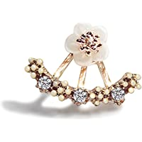 Bullidea 1 Pair New Fashion Style Small Cute Daisy Flowers Stud Earrings For Women Jewelry Accessories(Pink)