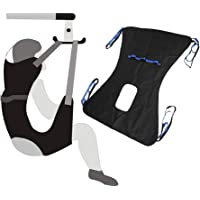 """Toileting Sling Patient Lifter Medical Lift Equipment Bariatric Handicap Lift Commode Sling Medical Transfer Belt with Four Point Support Full Body Sling (Large - 51""""x 41"""")"""