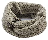 Handmade PURE FISHERMAN WOOL Infinity Loop Scarf - Oatmeal (READY TO SHIP)