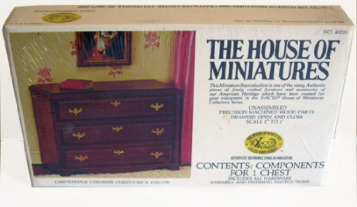 The House of Miniatures Chippendale 3 Drawer Chest