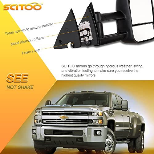 SCITOO Towing Mirrors fit 1988-98 Chevy GMC C/K 1500 88-00 C/K ...