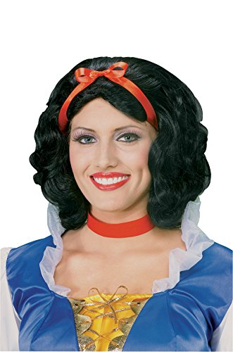 Forum Snow White Wig, Black, One -
