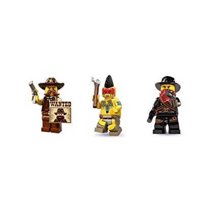 LEGO Sherrif, Bandit, Indian Warrior Minifigures: Toys & Games