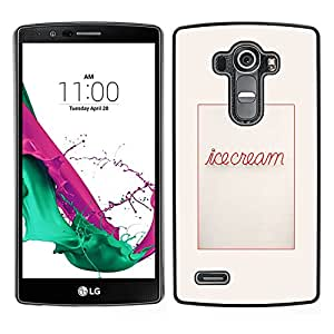 LG G4 / H815 H812 H810 H811 LS991 VS986 US991 Único Patrón Plástico Duro Fundas Cover Cubre Hard Case Cover - Poster Text Message Food