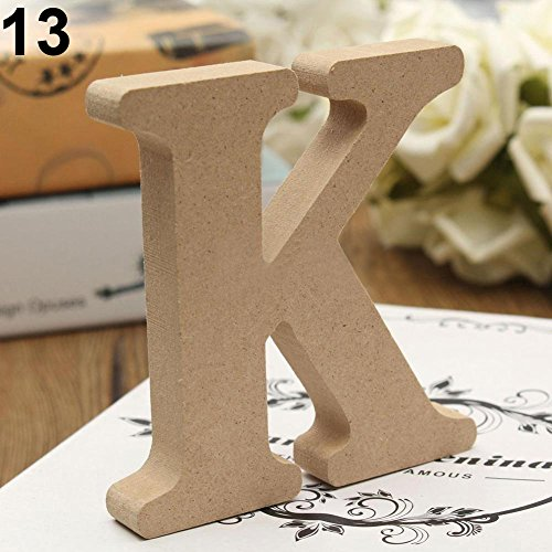 lightclub Freestanding A-Z Wood Wooden Letters Alphabet Hanging Wedding Home Party Decor for Wedding for Children Baby Name Girls Bedroom Wedding Brithday Party Home Decor-Letters K ()