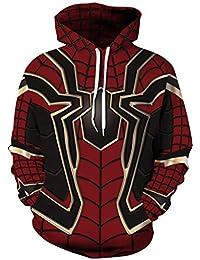 Pandolah Men Pullover Hoodie Galaxy Sweatshirt Animal 3D Printed Sweaters