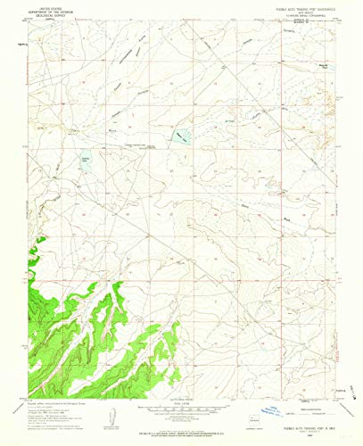 YellowMaps Pueblo Alto Trading Post NM topo map, 1:24000 Scale, 7.5 X 7.5 Minute, Historical, 1960, Updated 1963, 26.8 x 21.9 in - Polypropylene