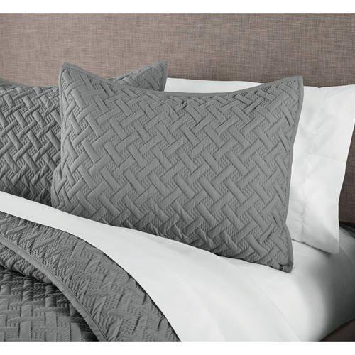 Emma Solid Basketweave ONE Pillow Sham