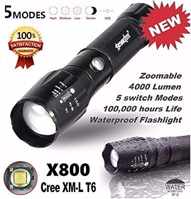 LandFox® Flashlight,5000LM G700 Tactical LED Flashlight X800 Zoom Super Bright Military Light Lamp