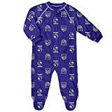 OuterStuff Infant/Toddler Sacramento Kings Coverall Zip Up Sleeper