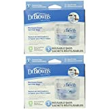 Dr. Brown`s Microwave Steam Sterilizer Bags - 2 Packs of 5 Count = 10 Bags
