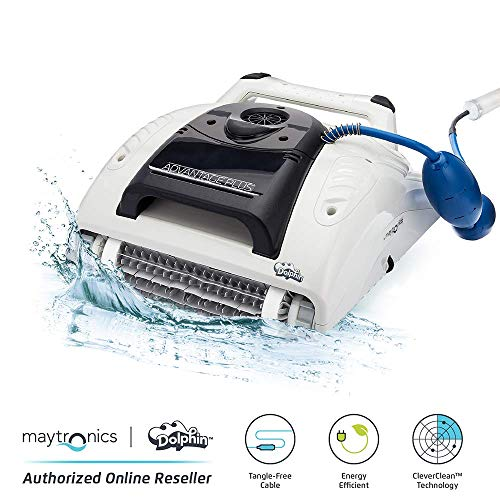 DOLPHIN Advantage Plus Automatic Robotic Pool Cleaner Provides 3 Hour Pool Cleaning with Superior Scrubbing Power for In-ground Swimming Pools up to 50 Feet