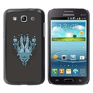Be Good Phone Accessory // Dura Cáscara cubierta Protectora Caso Carcasa Funda de Protección para Samsung Galaxy Win I8550 I8552 Grand Quattro // Abstract Face
