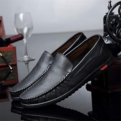 fei Gpf Y Mocasines Barco Los black Cómodos 41 Zapatos Planos Ligero Moda Zapato Hombres one De Slip Otoño Cuero Primavera Caminar Suave Conducción rr1dcqwTZ
