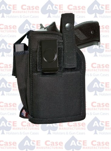 Ace Case Belt & Clip Holster W/MAG Pouch for Ruger SR9 SR40 W/Light/Laser - Made in U.S.A. (Ruger Sr40 Ammo)
