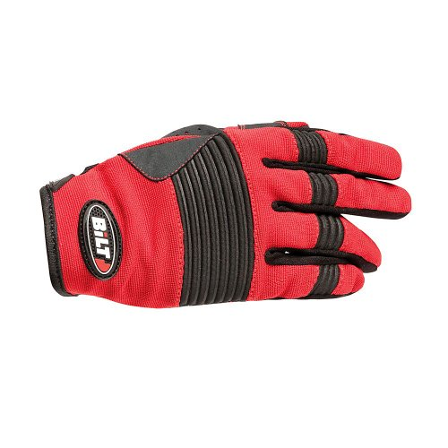 BILT Takedown Off-Road Motorcycle Gloves - LG, Red/Black ()