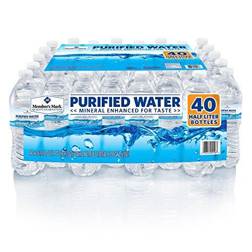 Member's Mark Purified Bottled Water (16.9 oz. bottles, 40 pk.) (pack of 6) by Member's Mark