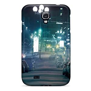Hot GRoLtsF5230JoxUT City Night Neon Tpu Case Cover Compatible With Galaxy S4