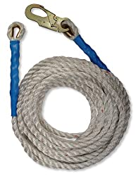 FallTech 7150 50-Foot Vertical Lifeline with Snap Hook and Thimble End