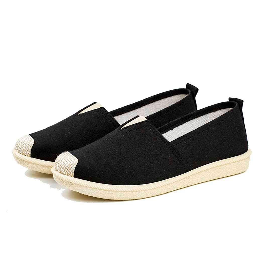 Flats Shoes Women Comfortable-NEEKEY Casual Breathable Retro Shoes, Unisex Student Soft Bottom Sandals