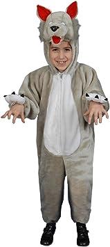 Dress Up America Disfraz de Lobo de Felpa para niños pequeños ...