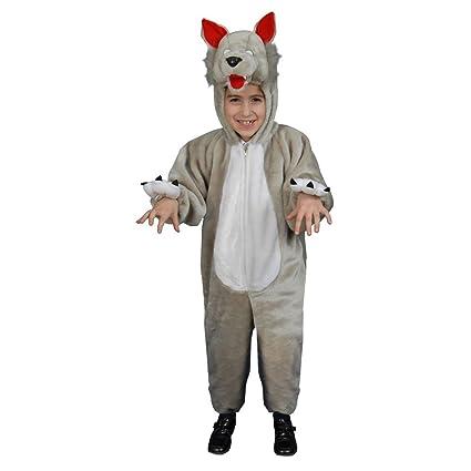 Dress Up America Disfraz de Lobo de Felpa para niños pequeños