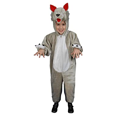 kids plush wolf costume set toddler t2 - Wolf Halloween Costume Kids