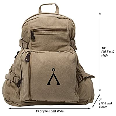 60%OFF Stargate Earth Symbol Heavyweight Canvas Backpack Bag