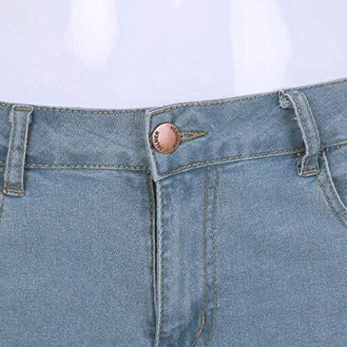 Slim Destroyed Skinny Abiti Holes Comode Strech Denim Taglie Skinny Hellblau Dasongff Jeans Pantaloni Chern WzvBqn5Yq