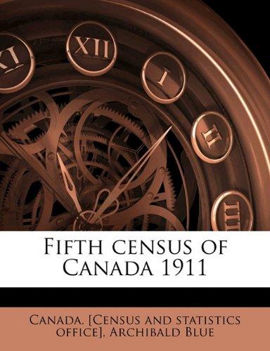 Fifth Census of Canada 1911, Volume 1 pdf