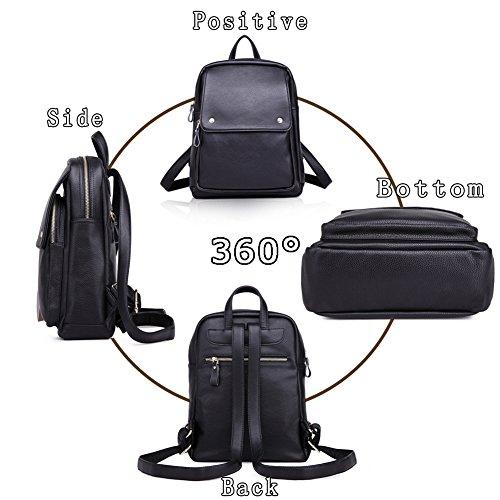 G-AVERIL GA1052-B - Bolso mochila  para mujer Negro negro Red