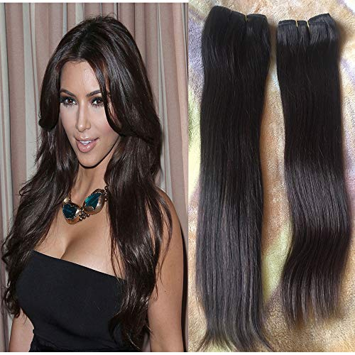 Dark Brown Hair Extensions Remy Clip in Double Weft Thick Long Clip in Human Hair Extensions Chestnut Brown 18 inch 7 pieces #2 100g