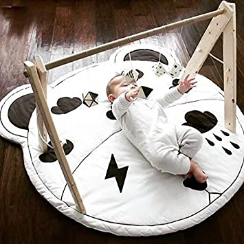 amazon com hiltow kids rug baby nursery mat child game round