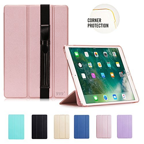 iPad Pro 10.5 Case, WWW Ultra Slim Lightweight Smart Cover Protective Case with Translucent Frosted Back Protector and Auto Wake/Sleep Function for iPad Pro 10.5 Rose Gold