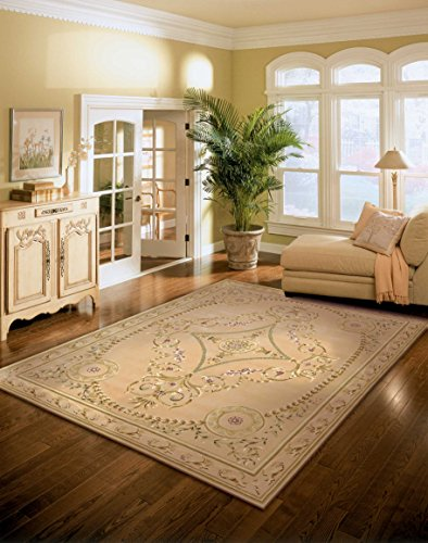 Nourison Versailles Palace (VP07) Beige Rectangle Area Rug, 7-Feet 6-Inches by 9-Feet 6-Inches (7'6