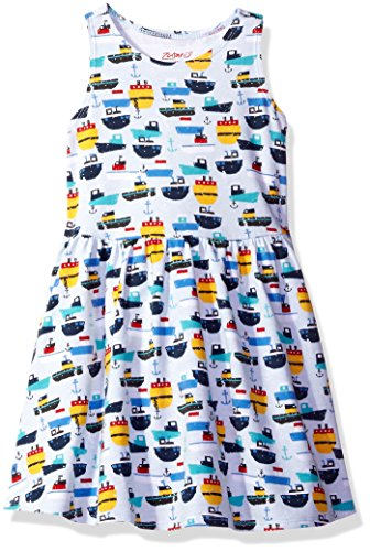 Zutano Baby Toddler Girls' Cotton Tank Dress, Ahoy, 3T (Zutano Baby Dress)