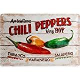 Chili Peppers Embossed Steel Sign Na 3020