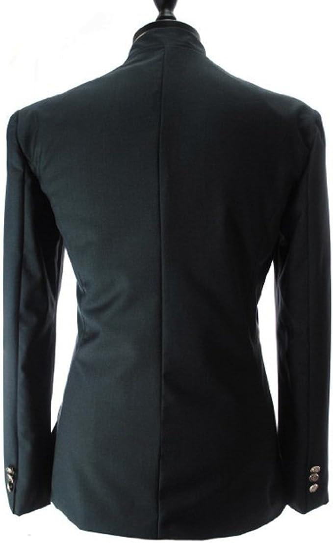 ZhuiKun Giacche da Abito Uomo Irregolare Casuale Cappotto Giacca Elegante Vestito Blazers