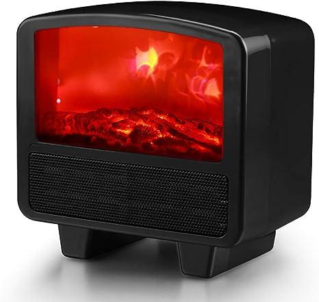 Yajun Chimenea Eléctrica Calentador De Estufa Moderno Mini De Poco Ruido Efecto De Llama 3D Hermosa Y Elegante Calefacción,Black: Amazon.es: Deportes y aire libre